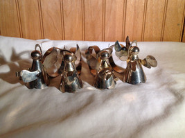 Real Nice Set of Four Metal Angel Napkin Rings Each Unique image 8