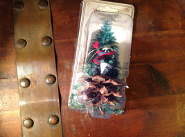 Real Pine Cone Panda Bear with Scarf Pet Pine Cone Christmas Ornament image 3