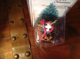 Real Pine Cone Panda Bear with Scarf Pet Pine Cone Christmas Ornament image 4