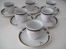 Realty Fine Porcelain Espresso Set 12 piece 6 cups and saucers image 2