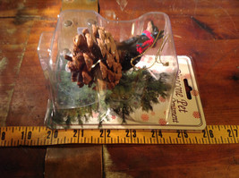 Real Pine Cone Black Doberman with Scarf Pet Pine Cone Christmas Ornament image 6