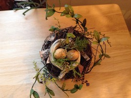 Realistic looking nest with greens and eggs spring display or teacher tool image 7