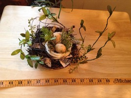 Realistic looking nest with greens and eggs spring display or teacher tool image 10