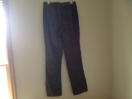 Real Suede Leather Brown Dress Pants Massini Zipper Button Clasp Closure Size 10 image 8
