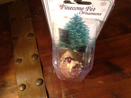 Real Pine Cone Deer Buck with Scarf Pet Pine Cone Christmas Ornament image 5