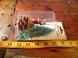Real Pine Cone Deer Buck with Scarf Pet Pine Cone Christmas Ornament image 7