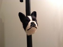 Recycled Rabbit Fur Boston Terrier Dog Head Magnet image 6