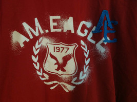 Red American Eagle Short Sleeve T-shirt with Print Design on Front Size XXL image 2