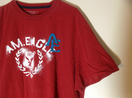 Red American Eagle Short Sleeve T-shirt with Print Design on Front Size XXL image 4