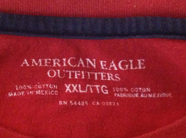Red American Eagle Short Sleeve T-shirt with Print Design on Front Size XXL image 6