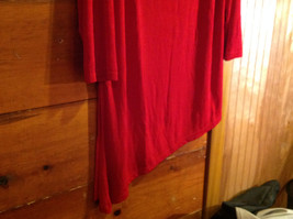 Red Asymmetrical Shirt by Magic Scarf Company Tag Attached Size XL to 2XL image 4
