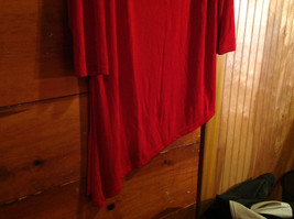 Red Asymmetrical Shirt by Magic Scarf Company Tag Attached Size XL to 2XL image 5
