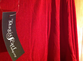 Red Asymmetrical Shirt by Magic Scarf Company Tag Attached Size XL to 2XL image 6