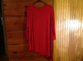 Red Asymmetrical Shirt by Magic Scarf Company Tag Attached Size XL to 2XL image 8