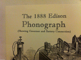Poster of Edison 1888 Phonograph Steel Engraving Reproduction with genius quote image 6