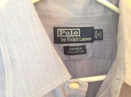 Polo Ralph Lauren Long Sleeve Button Down Light Purple Shirt Size 32 to 33 image 5