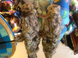 Prairie Dog Standing Up Animal Figurine - recycled rabbit fur image 7