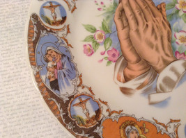 Praying Hands Ceramic Plate Bible Scenes on Edges Around Plate image 4