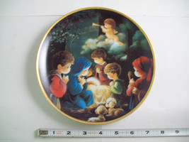 Precious Moments Plate #1256X Bible Story Come Let us Adore Him image 2