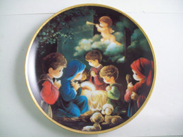 Precious Moments Plate #1256X Bible Story Come Let us Adore Him image 3