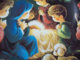 Precious Moments Plate #1256X Bible Story Come Let us Adore Him image 4
