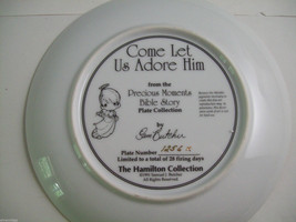 Precious Moments Plate #1256X Bible Story Come Let us Adore Him image 7
