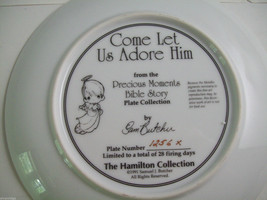 Precious Moments Plate #1256X Bible Story Come Let us Adore Him image 5