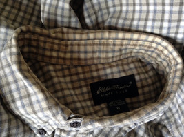 Plaid Long Sleeve Casual Button Down Shirt with Collar by Eddie Bauer Size XL image 8
