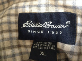 Plaid Long Sleeve Casual Button Down Shirt with Collar by Eddie Bauer Size XL image 7