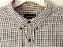 Plaid Long Sleeve Casual Button Down Shirt with Collar by Eddie Bauer Size XL image 5