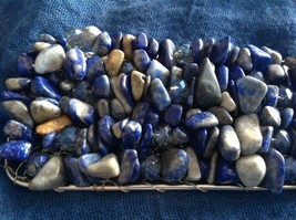 Pretty Blue Cuff Lapis Lazuli Bracelet by Elly Preston you shape to your wrist image 2