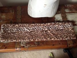 Pretty Faux Fur Cheetah Infinity Scarf See Measurements Below image 8