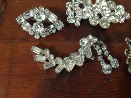 Pretty Five Piece Lot of Brooches with Many Swarovski Elements for Repurposing image 2