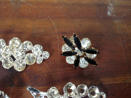Pretty Five Piece Lot of Brooches with Many Swarovski Elements for Repurposing image 6