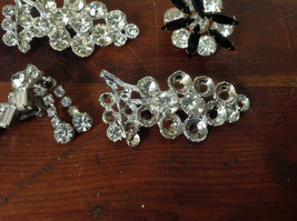 Pretty Five Piece Lot of Brooches with Many Swarovski Elements for Repurposing image 5