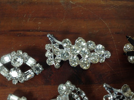 Pretty Five Piece Lot of Brooches with Many Swarovski Elements for Repurposing image 4