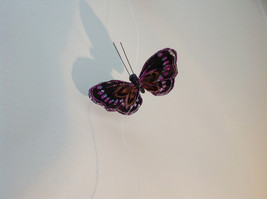 Pretty Dark Color Glitter Feather Butterfly Garland Plastic line mobile image 4