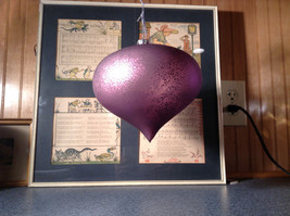 Pretty Giant Purple Ornament Matte Finish Diameter Approximately 7 Inches image 4