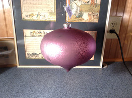 Pretty Giant Purple Ornament Matte Finish Diameter Approximately 7 Inches image 2