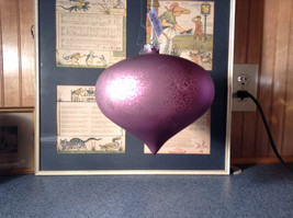 Pretty Giant Purple Ornament Matte Finish Diameter Approximately 7 Inches image 3