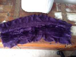 Pretty Frilly Furry Purple Infinity Scarf See Measurements Below image 9