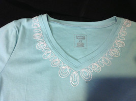 Pretty Hasting and Smith Ladies Light Blue Short Sleeve Top Size PS image 4
