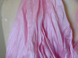 Pretty Light Pink Scrunched Style Tasseled Fashion Scarf Soft Material image 7