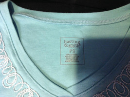 Pretty Hasting and Smith Ladies Light Blue Short Sleeve Top Size PS image 5