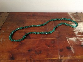 Pretty Green 36 Inch Necklace Malachite Chip image 2
