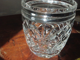 Pretty Large Clear Crystal Jar with Lid with Engraving image 3