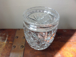 Pretty Large Clear Crystal Jar with Lid with Engraving image 6