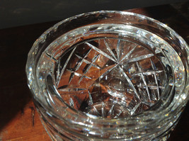 Pretty Large Clear Crystal Jar with Lid with Engraving image 4