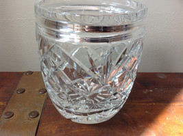 Pretty Large Clear Crystal Jar with Lid with Engraving image 5