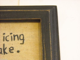 Primitive Embroidered Framed You Are The Icing on My Cupcake Saying image 6